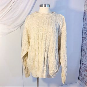 Vintage Fisherman Cable Knit Sweater XL